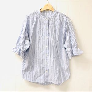 AllSaints Small blue pinstriped blouse